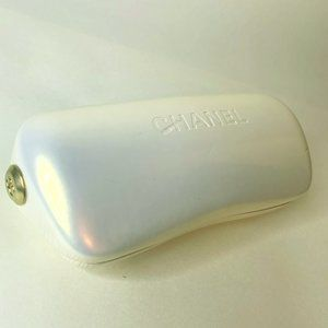 Chanel Sunglasses Case - White/Pearl with Gold
